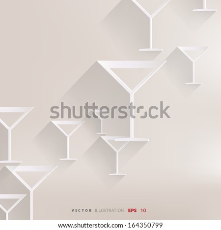 Wine glass web icon - stock vector
