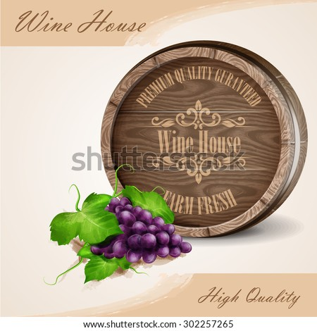 wine house high quality - stock vector