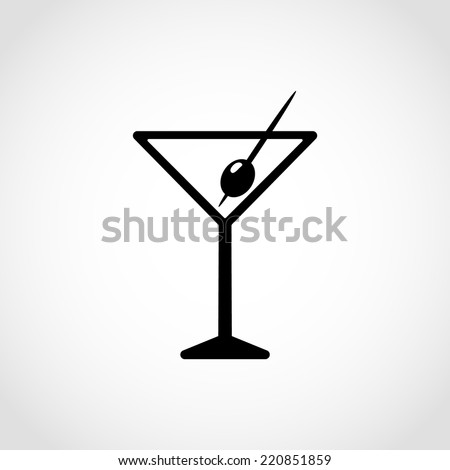 Wine Icon Isolated on White Background - stock vector
