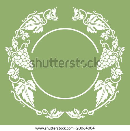 Wine in round - stock vector