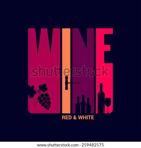 wine label design background - stock vector