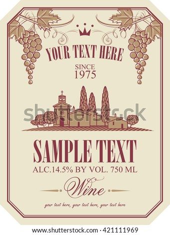 Wine Label Stock Images, Royalty-Free Images & Vectors | Shutterstock