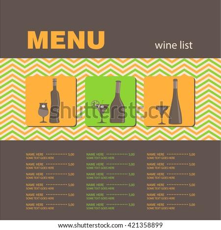 Wine list. - stock vector