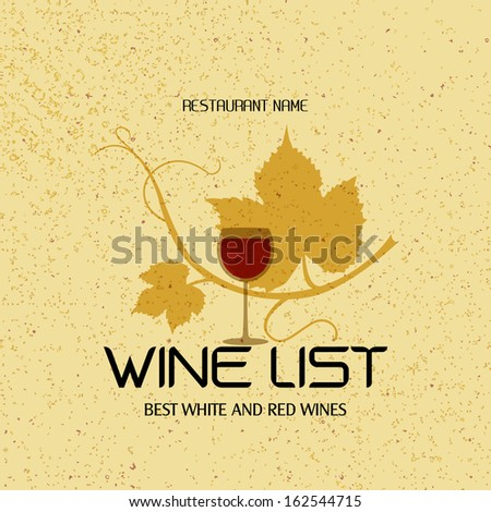 Wine menu design / Wine list design template for restaurants  - stock vector