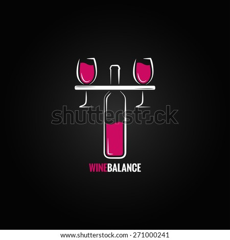 wine red and white balance concept design background - stock vector
