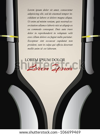 Wine tasting poster| Editable Illustration - stock vector