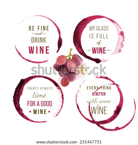 wine type designs - stock vector