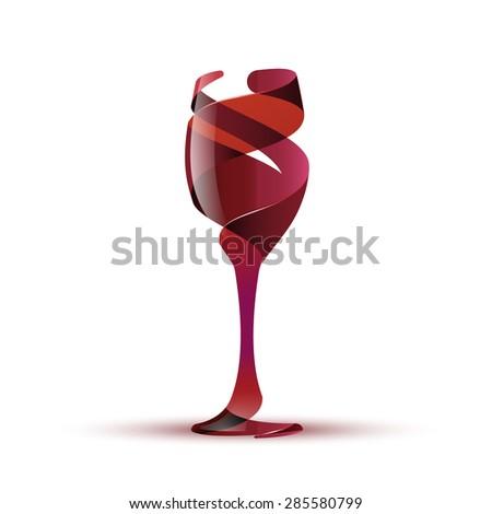 Wineglass, eps10 vector - stock vector