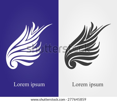 Wing logo vector illustration of stylish type 2 - stock vector