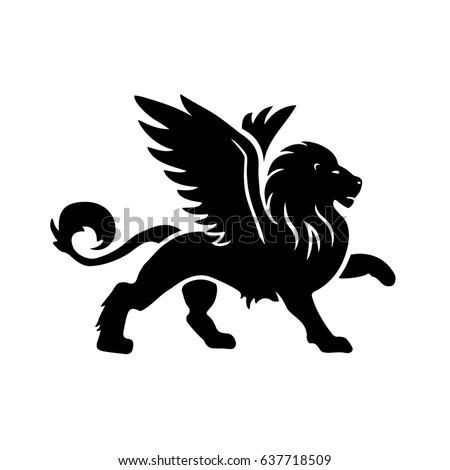 Winged lion tattoo - photo#48