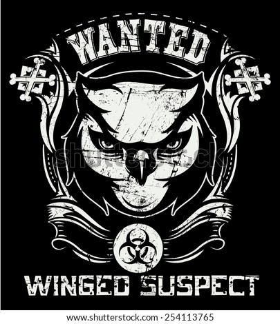 Winged suspect - stock vector