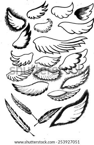 Native American Symbol Airy Bird Feather Stock Vector
