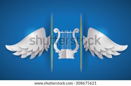 Wings digital design, vector illustration 10 eps graphic - stock vector