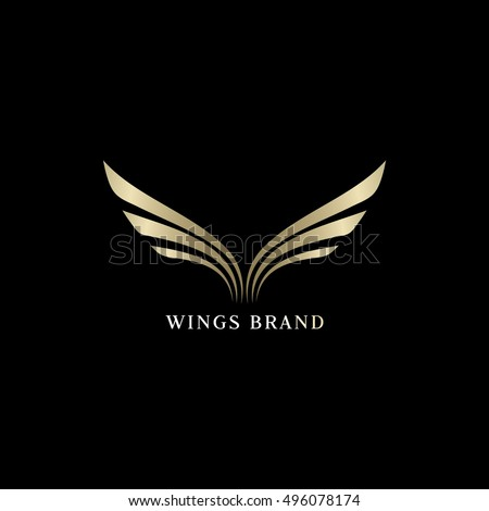 Wings Logo Vector Icon Sign Graphic Stock Vector 496078174
