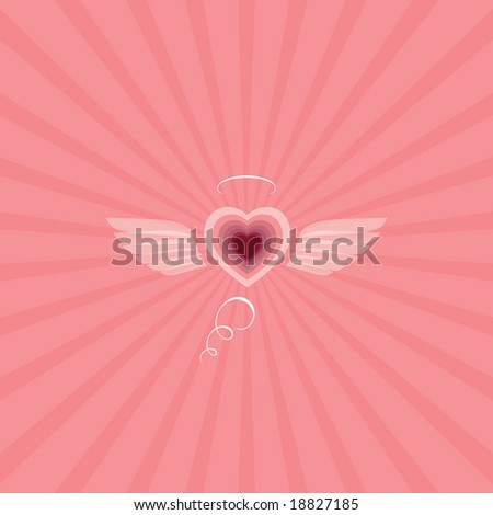 Wings of love - stock vector