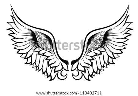 Wings.Tattoo design - stock vector