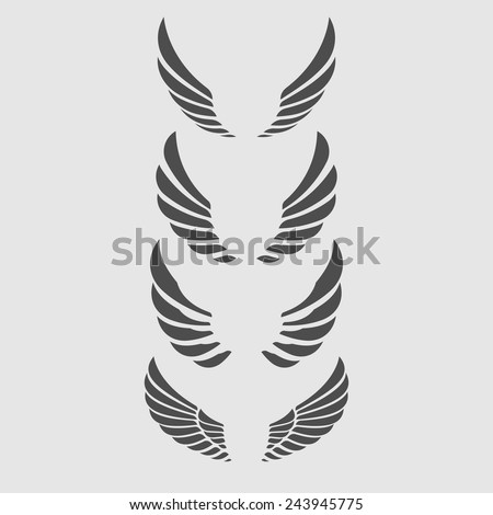 Wings Vector Set. - stock vector