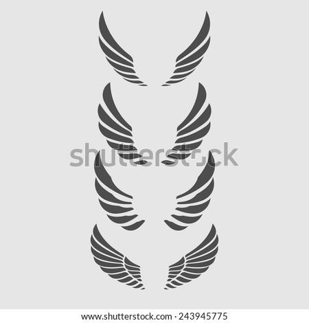 Wings Vector Set. - stock vector