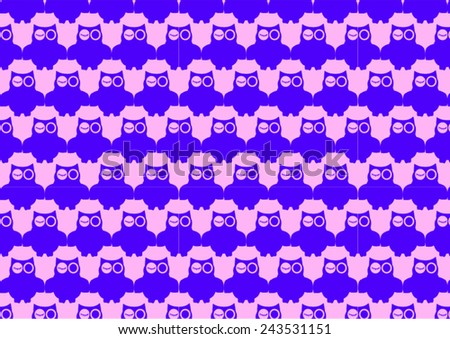 Winking Owl Pattern - stock vector