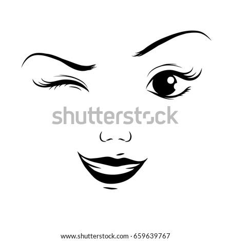 how to draw a cartoon winking eye