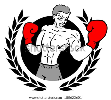 Winner boxing - stock vector