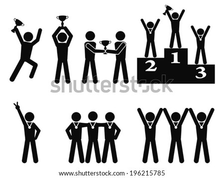 Winner Celebration Champion symbol - stock vector