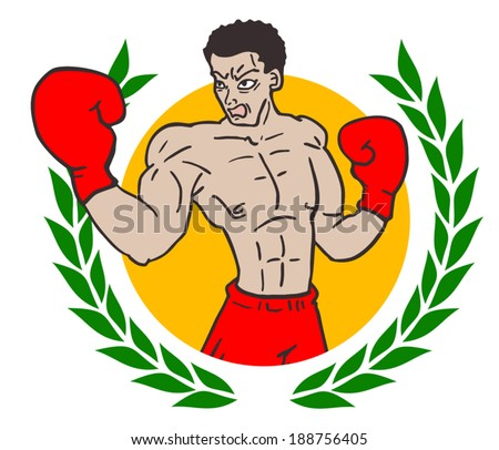 Winner gym emblem - stock vector