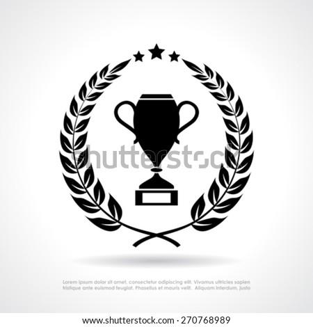 Winner prize icon - stock vector