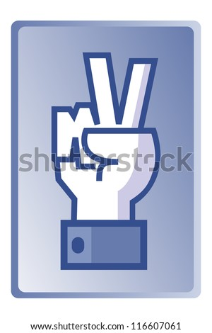 Winner sign, universal hand symbol, vector - stock vector