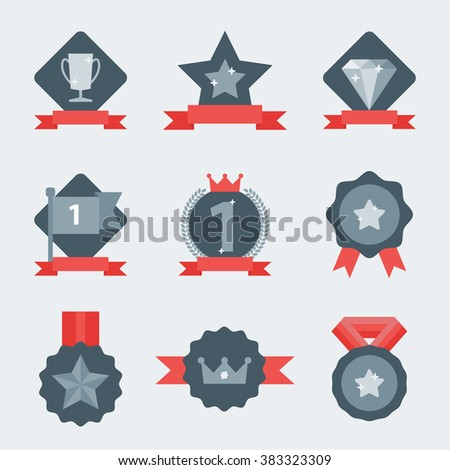 Winner trophy. Winner trophy icon, winner trophy symbol. Isolated winner trophy elements. Trophy and awards icons set. Trophy sign. Trophy icon. Awards elements, awards icon. Winner cup. Awards sign. - stock vector