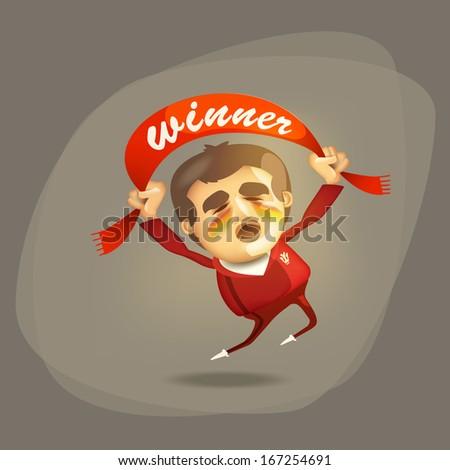 Winner. Vector format - stock vector