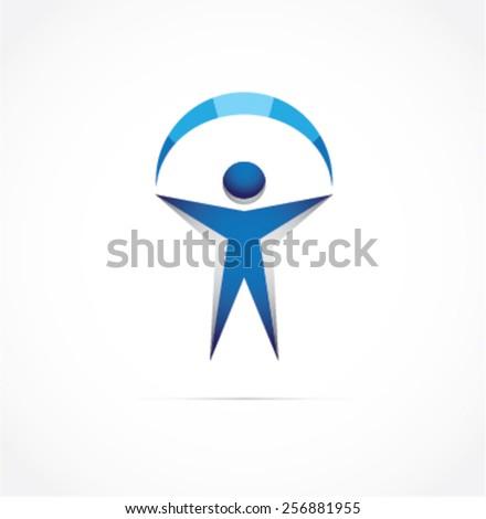 Winner vector logo design template.  - stock vector