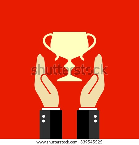 Winner vector poster - stock vector