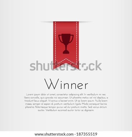 Winner. Vector template design. - stock vector