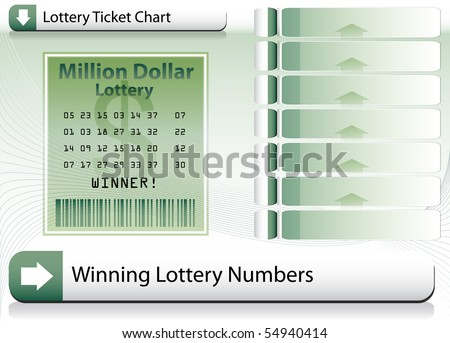 Winning Lottery Ticket Background - stock vector