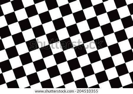 Winning Race Flag vector with Black and White Checker Board.