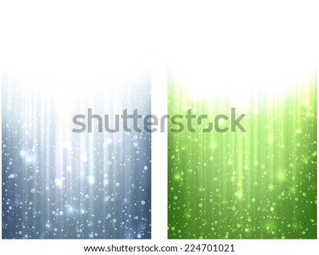Winter abstract vertical banners. Christmas background with snowflakes and sparkles. Vector.  - stock vector