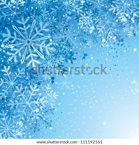Winter background. Eps8. - stock vector