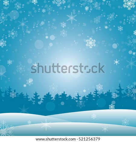 Winter background for your design, banner, presentation, brochure. Vector illustration. Snow and snowfall