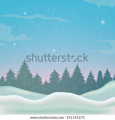 winter background, landscape, christmas, new year, 2016