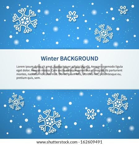 Winter background. Vector illustration. - stock vector