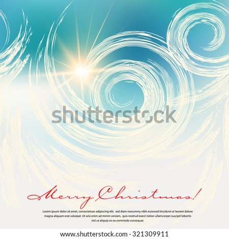 Winter background with a seamless frosty pattern. The illustration contains transparency and effects. EPS10 - stock vector