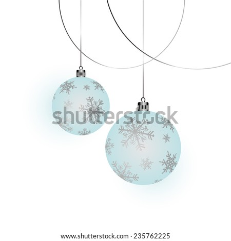 Winter background with Christmas Decorations - stock vector