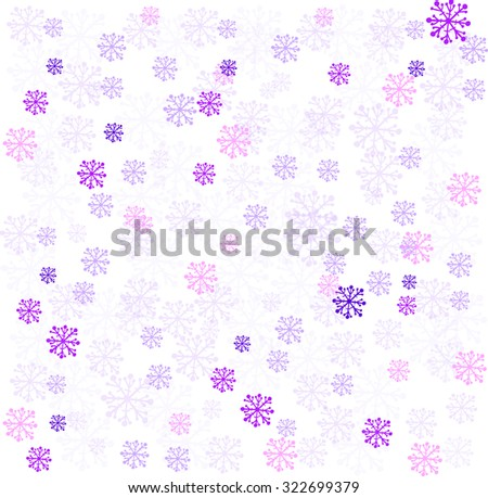 Winter background with colorful snowflakes. Vector illustration. - stock vector