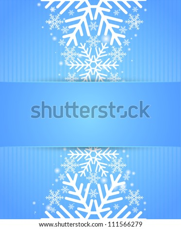 Winter background with snow - stock vector