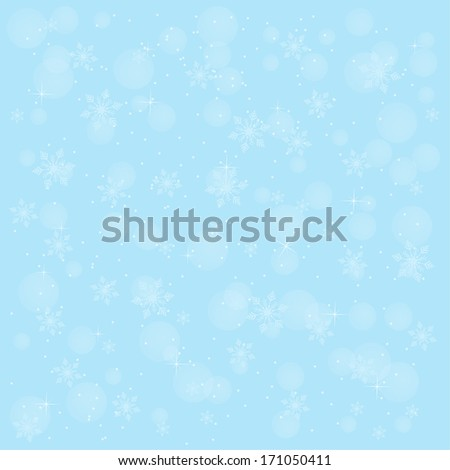 Winter background with snowflakes and joyful mood for your design. For web, printing, cards, greetings, wishes - stock vector