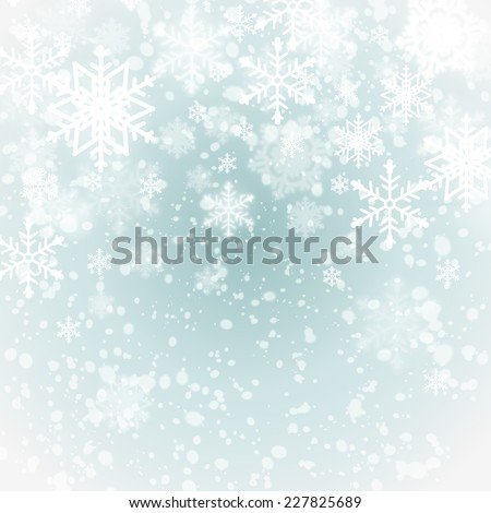 winter background with snowflakes. festive vector illustration - stock vector