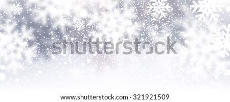 Winter background with snowflakes. Vector Illustration. - stock vector