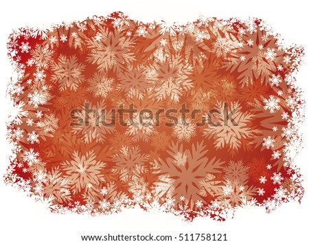 Winter background with snowflakes, vector illustration