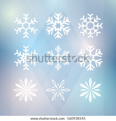 winter background. with snowflakes. vector illustration eps10 - stock vector
